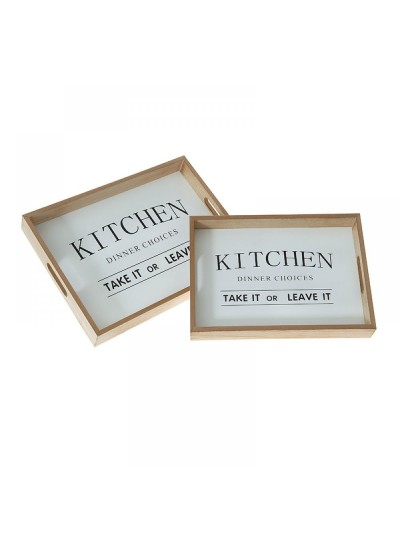 Ξύλινος δίσκος Kitchen 35Χ25Χ5 Εκατοστά