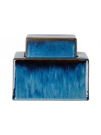Κεραμικό Βάζο Μπλε με Καπάκι Χαμηλό Trimar