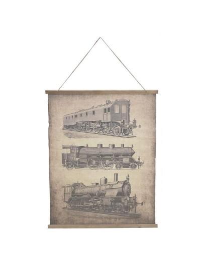 Αφίσα Ρετρό με Θέμα Τρένα Διακοσμητικό Τοίχου