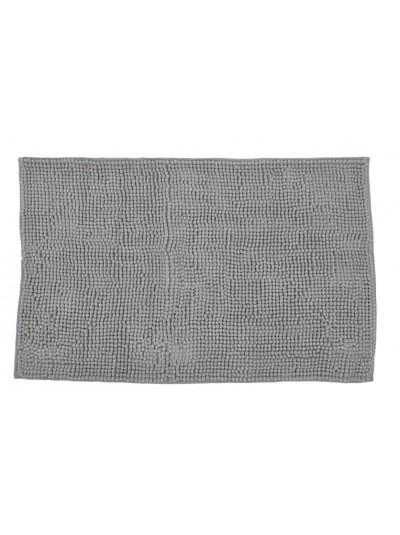 Πατάκι Μπάνιου Ανοιχτό Γκρι Μονόχρωμο Σενίλ 50 X 80 Eκατοστά
