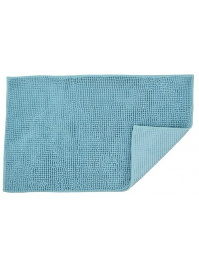 Πατάκι Μπάνιου Γαλάζιο Μονόχρωμο Σενίλ 50 X 80 Eκατοστά