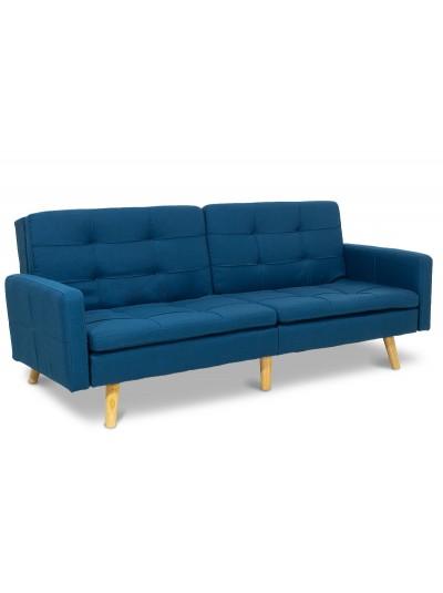 Καναπές-κρεβάτι Flexible pakoworld με μπλε ύφασμα 198x87x76εκ