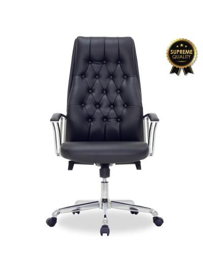 Καρέκλα γραφείου διευθυντή Arizona pakoworld SUPREME QUALITY με μαύρο τεχνόδερμα