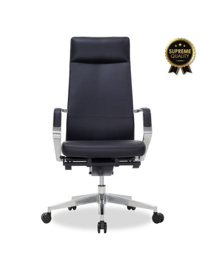 Καρέκλα γραφείου διευθυντή Alaska pakoworld SUPREME QUALITY με μαύρο τεχνόδερμα