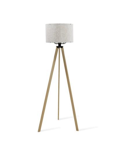 Φωτιστικό δαπέδου PWL-0001 pakoworld πόδια sonoma-εκρού pvc καπέλο με σχέδιο Φ38x140εκ