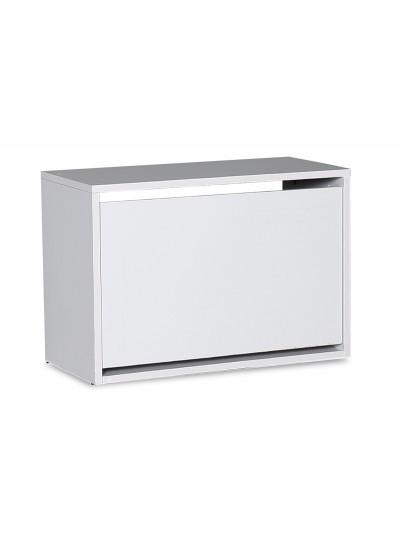 Παπουτσοθήκη ανακλινόμενη Step 6 ζεύγων pakoworld σε χρώμα λευκό 60x30x42εκ