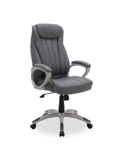 Καρέκλα γραφείου διευθυντή Rabiot pakoworld με pu χρώμα γκρι