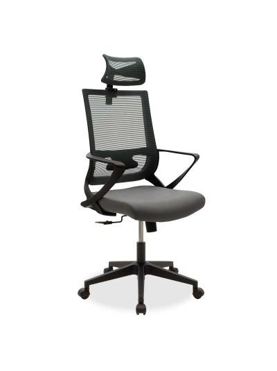 Καρέκλα γραφείου διευθυντή Batman pakoworld με ύφασμα mesh χρώμα ανθρακί