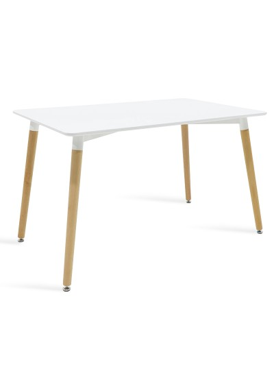 Τραπέζι Natali pakoworld επιφάνεια MDF λευκό 120x80x76εκ