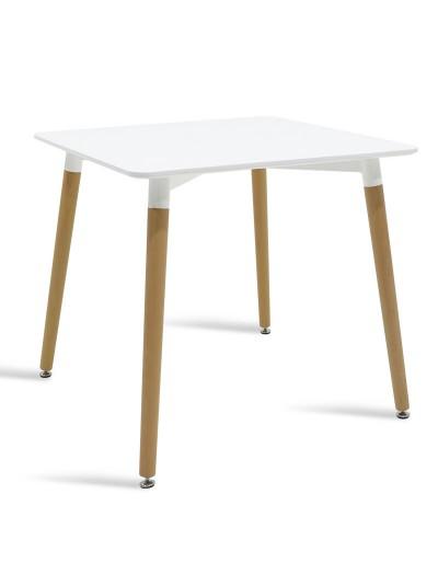 Τραπέζι Natali τετράγωνο MDF χρώμα λευκό 80x80x76εκ
