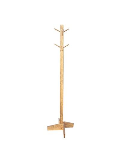 Καλόγερος ρούχων Uzzi pakoworld ξύλινος σε καρυδί χρώμα Φ30χ150εκ
