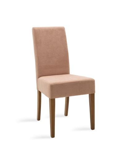 Καρέκλα Ditta pakoworld σάπιο μήλο ύφασμα - πόδια ξύλο μασίφ καρυδί