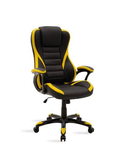 Καρέκλα γραφείου Starr gaming pakoworld pu μαύρο-κίτρινο