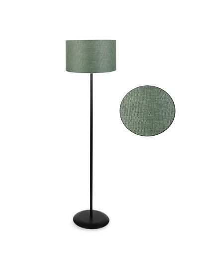 Μεταλλικό φωτιστικό δαπέδου PWL-0137 pakoworld μαύρο-pvc καπέλο κυπαρισσί Φ30x150εκ