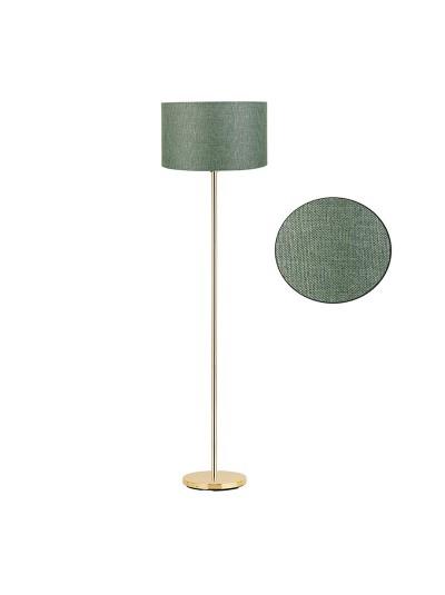 Μεταλλικό φωτιστικό δαπέδου PWL-0137 pakoworld χρυσό-pvc καπέλο κυπαρισσί Φ30x150εκ