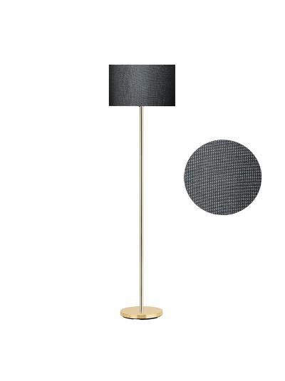 Μεταλλικό φωτιστικό δαπέδου PWL-0137 pakoworld χρυσό-pvc καπέλο μαύρο Φ30x150εκ