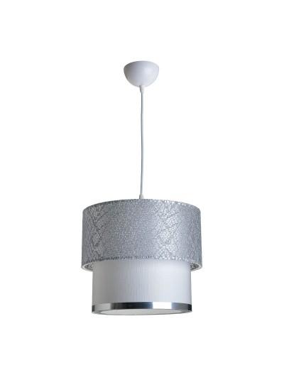 Φωτιστικό οροφής PWL-0963 pakoworld ασημί-λευκό Φ30x55εκ