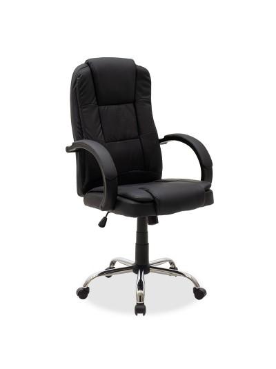 Καρέκλα γραφείου διευθυντή Cara pakoworld pu χρώμα μαύρο