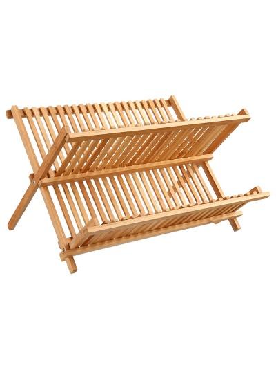 Πιατοθήκη Labon pakoworld bamboo φυσικό 42,5x33,5x25,5εκ