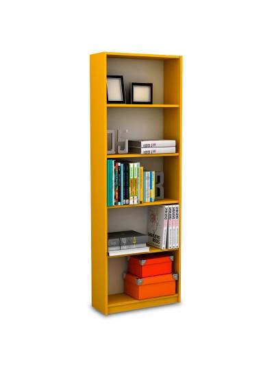 Βιβλιοθήκη Max σε κίτρινο χρώμα 58x23x170εκ