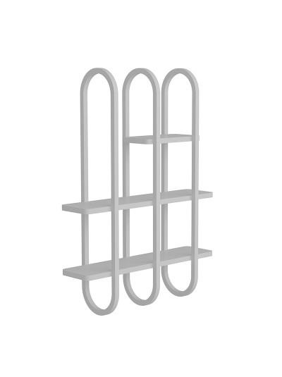 Ραφιέρα τοίχου PWF-0411 pakoworld λευκό-γκρι 86,5x22,5x122εκ