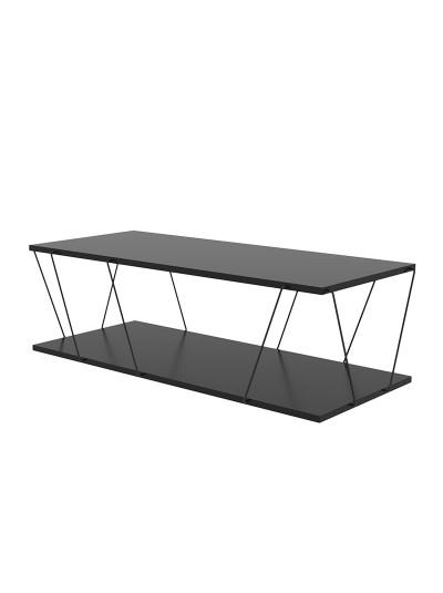 Τραπέζι σαλονιού PWF-0426 pakoworld μαύρο 120x50x30εκ