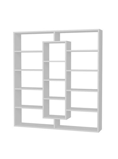Βιβλιοθήκη PWF-0433 pakoworld λευκό 125x22x136εκ