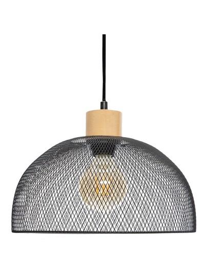 Φωτιστικό οροφής Sam pakoworld μαύρο Φ30x22,5εκ