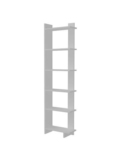 Βιβλιοθήκη PWF-0428 pakoworld λευκό 47x21,5x170εκ