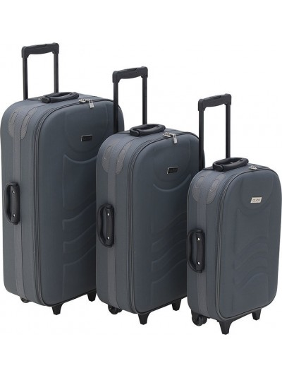 luggage set of 3 grey