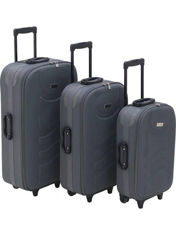 INART Βαλίτσα Ταξιδιού Σετ Των 3 Γκρι Χρώμα Κωδικός: 6-70-014-0002