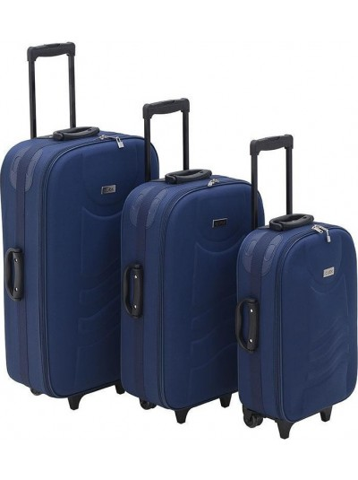 INART Βαλίτσα Ταξιδιού Σετ Των 3 Μπλε Χρώμα Κωδικός: 6-70-014-0003
