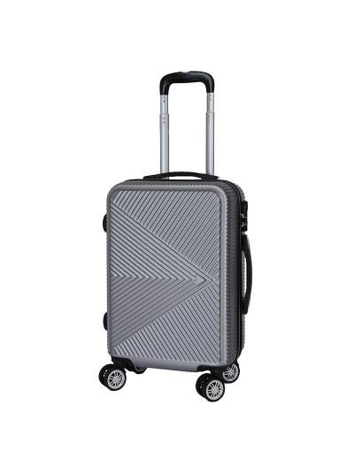 Βαλίτσα Ταξιδιού Ασημί INART Κωδικός: 6-70-059-0037 Διαστάσεις: 36Χ23Χ54 Εκατοστά