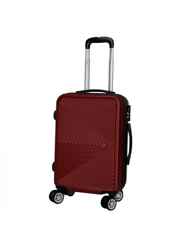 Βαλίτσα Ταξιδιού Μπορντώ  INART Κωδικός: 6-70-059-0040 Διαστάσεις: 36Χ23Χ54 Εκατοστά
