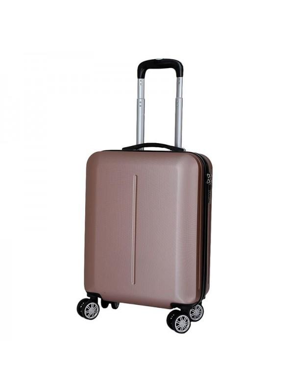 INART Βαλίτσα Ταξιδιού με 4 Ρόδες και Κλειδαριά  Ροζ/Χρυσή Κωδικός: 6-70-059-0044 Διαστάσεις: 38X20X52 Εκατοστά