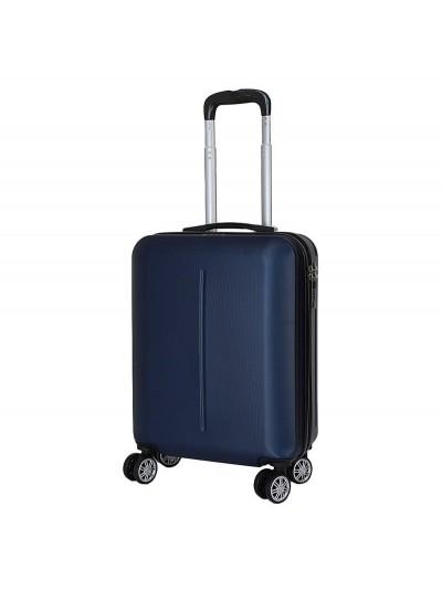 INART Βαλίτσα Ταξιδιού με 4 Ρόδες και Κλειδαριά Μπλε Κωδικός: 6-70-059-0045 Διαστάσεις: 38Χ20Χ52 Εκατοστά