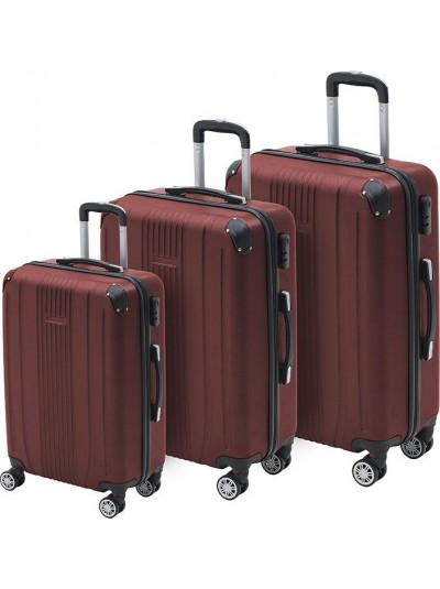 INART Βαλίτσα Ταξιδιού Σετ Των 3 Μπορντό Χρώμα Κωδικός: 6-70-059-0057