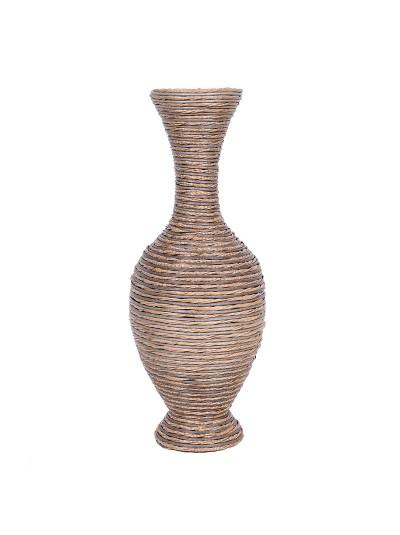 Βάζο Δαπέδου FYLLIANA Δίχρωμο Καφέ/Γκρι PVC Κωδικός: 373-91-943
