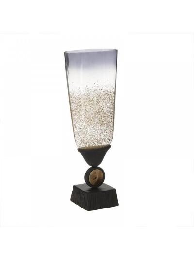 Βάζο Γυάλινο/Αλουμινίου INART Κωδικός: 3-70-162-0148 Διαστάσεις: 18Χ11,5Χ48 Εκατοστά