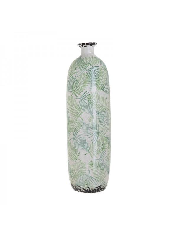 Βαζό Κεραμικό Inart με Πράσινα Φυτά 14.5 X 46 Eκ 3-70-185-0005