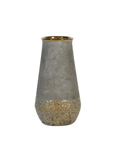 Κεραμικό Βάζο Χρυσό 21,5 Εκατοστά