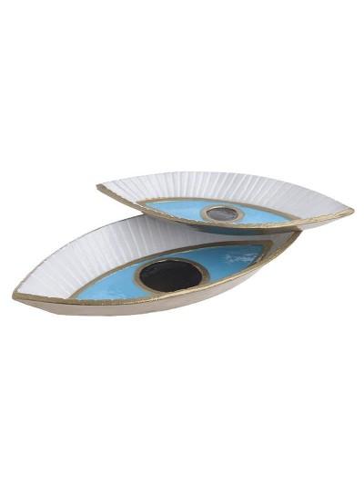 Διακοσμητική Πιατέλα Σετ Των 2 3-70-983-0013 Διαστάσεις (ΜΠΥ)38εκ x 18εκ x 5εκ