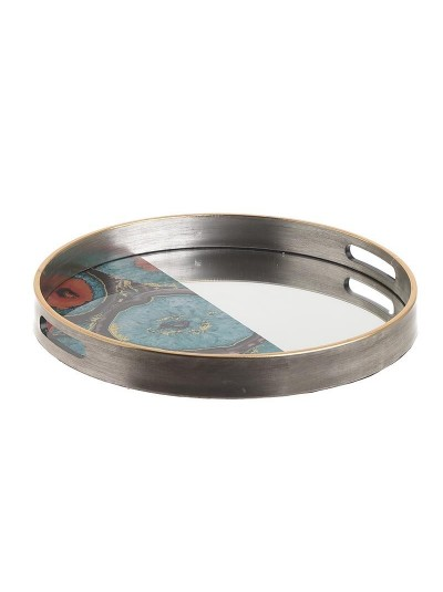 Ξύλινος Δίσκος INART Χρυσός Κωδικός: 3-70-705-0048 Διαστάσεις: 37Χ37Χ4,5 Εκατοστά
