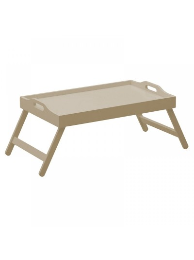 WOODEN BED TRAY BEIGE