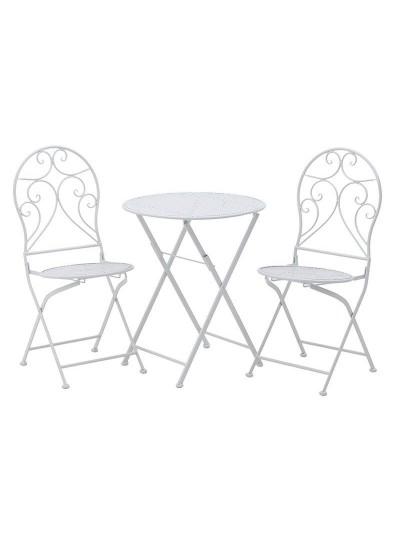 INART Σετ Τραπέζι Με 2 Καρέκλες Λευκό Κωδικός: 3-50-207-0091
