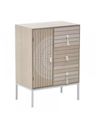 INART Συρταριέρα ξύλινη με 3 συρτάρια και 1 ντουλάπι 40Χ26Χ56 Κωδ: 3-50-874-0008 3-50-874-0008
