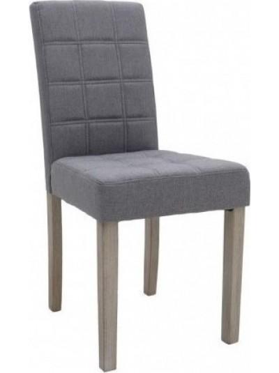 INART Καρέκλα Τραπεζαρίας Γκρι Υφασμάτινη με Ξύλινα Πόδια Κωδικός: 3-50-683-0008 Διαστάσεις: 43Χ53Χ91 Εκατοστά