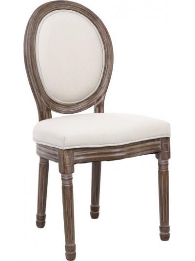 INART Ξύλινη καρέκλα με Υφασμάτινο Κάθισμα και Πλάτη Εκρού Κωδικος: 3-50-659-0021 Διαστάσεις: 48X46X96 Εκατοστά