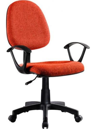 INART Καρέκλα Γραφείου Περιστρεφόμενη Πορτοκαλί/Μαύρη Κωδικός: 6-50-592-0010 Διαστάσεις: 62Χ54Χ106 Εκατοστά