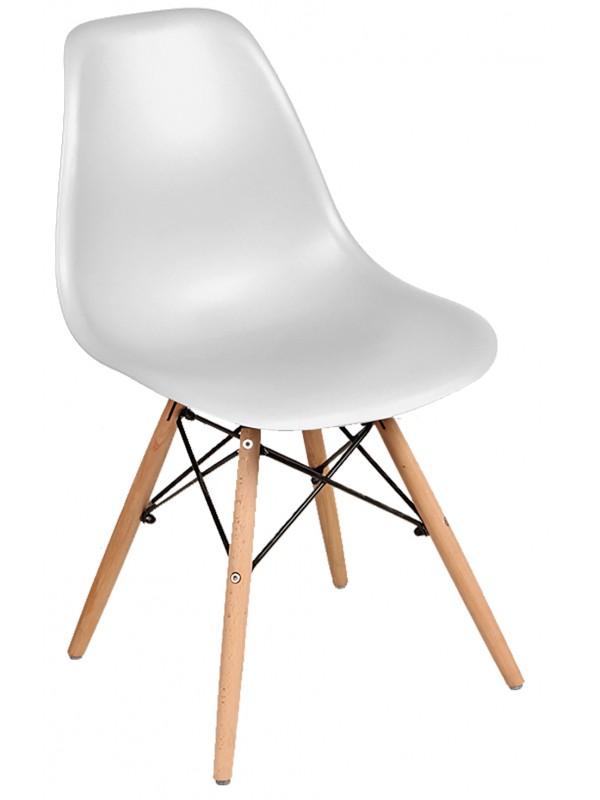 Καρέκλα Σαλονιού Πλαστική Λευκή TNS Κωδικός: 33-950-2238